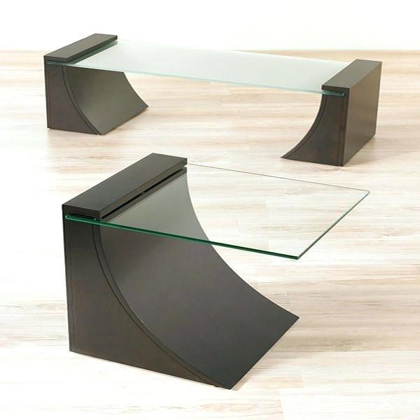 Glass Centre Table For Living Room Modern Living Room Wood Glass