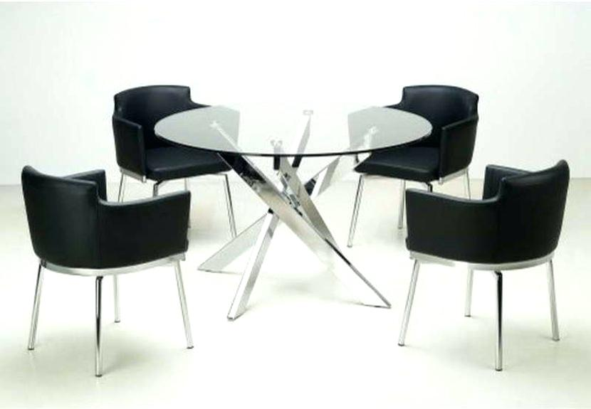 Round Glass Kitchen Table Sets Inspiring Modern Round Dining Room