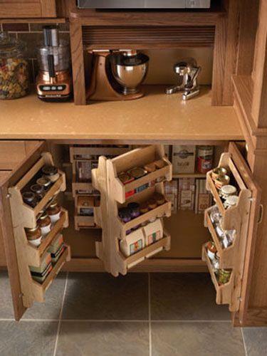 Modern Kitchen Storage Ideas, Spices Storage Solutions | Ideas for