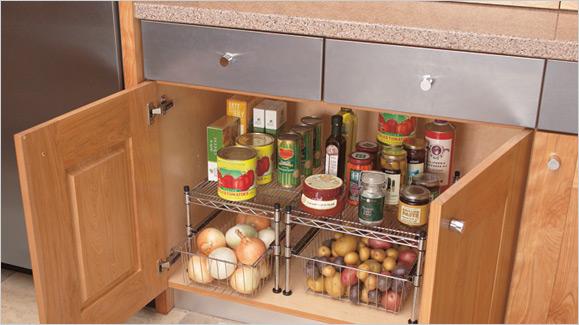 Furniture: Modern Rustic Kitchen Cabinet Storage Ideas From Wooden