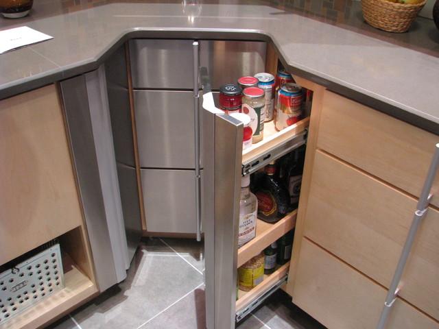 Contemporary Corner Kitchen Cabinet u2014 Burlap & Honey Decor : Corner