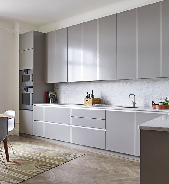 Grey kitchen | For the Home | Pinterest | Modern kitchen cabinets