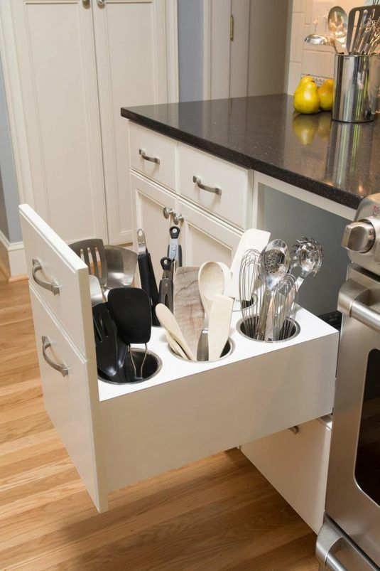 Modern Kitchen Cabinets With Clever Space-Saving Features | Kitchen