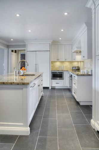 Modern Kitchen Floor Ceramic Tile Design Ideas