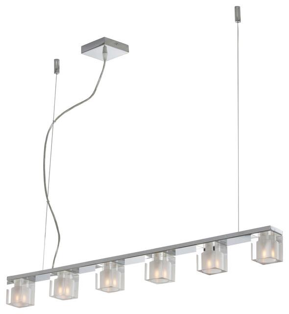 Blocs 6-Light Linear Pendant - Modern - Pendant Lighting - by Inmod