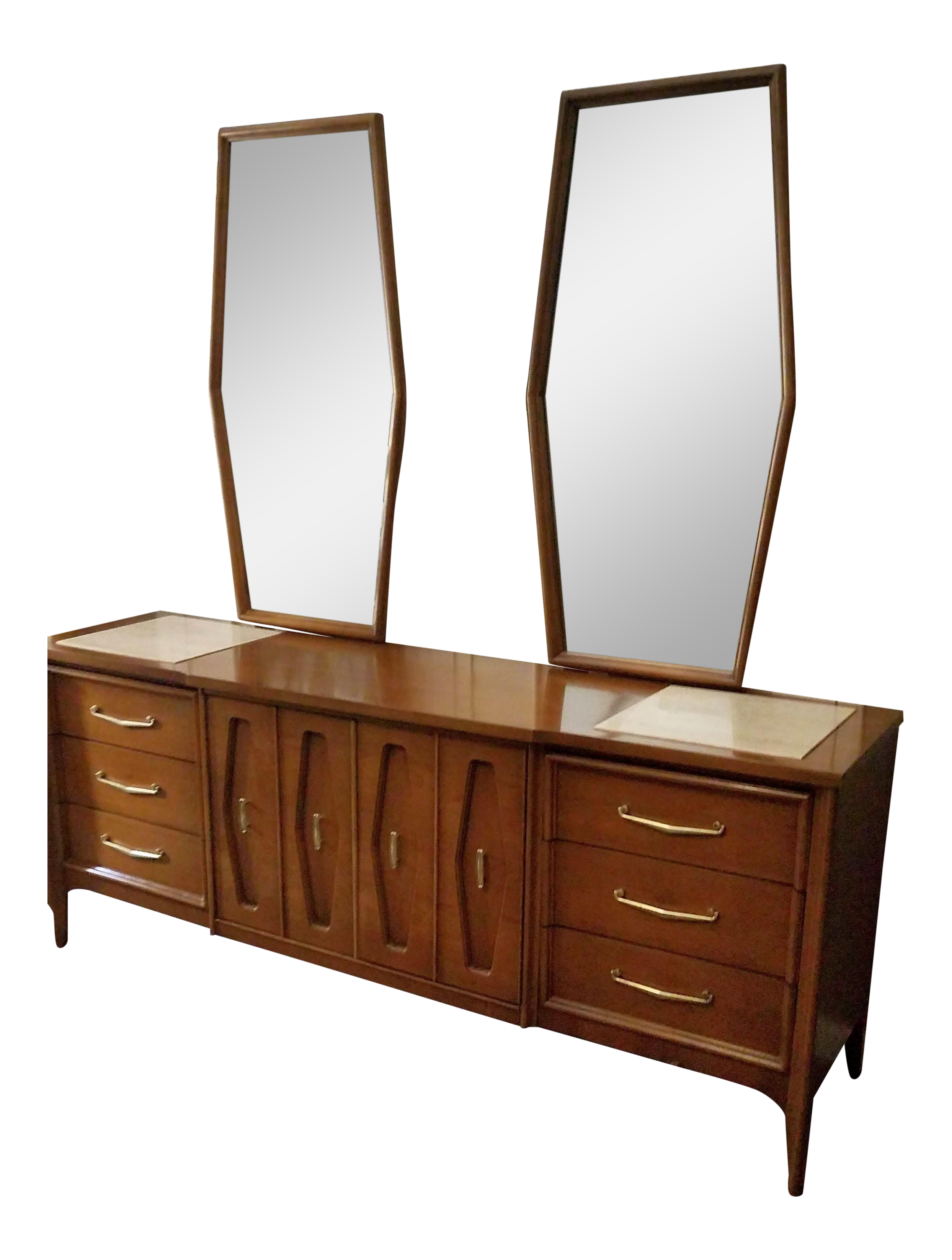 1957 Bassett Mid-Century Modern Long Dresser | Chairish