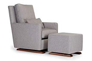 Amazon.com: Monte Design Upholstered Modern Nursery Como Glider