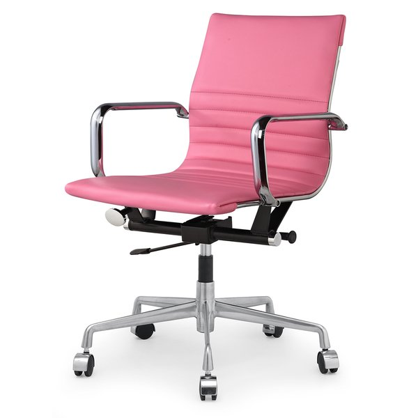 Shop Dix Modern Pink Vegan Leather Office Chair - Free Shipping