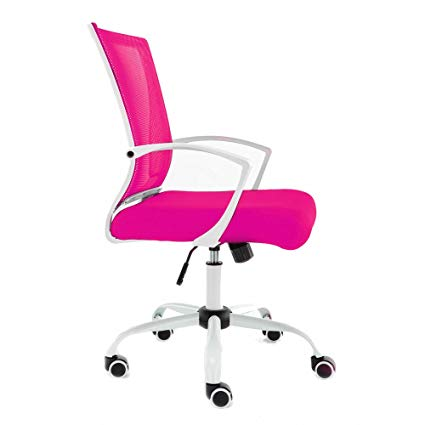 Amazon.com: Modern Home WHPINK Zuna Mid - Back Office Chair White