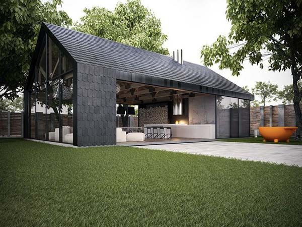 modern small pole barn house plans | Colin Timberlake Designs
