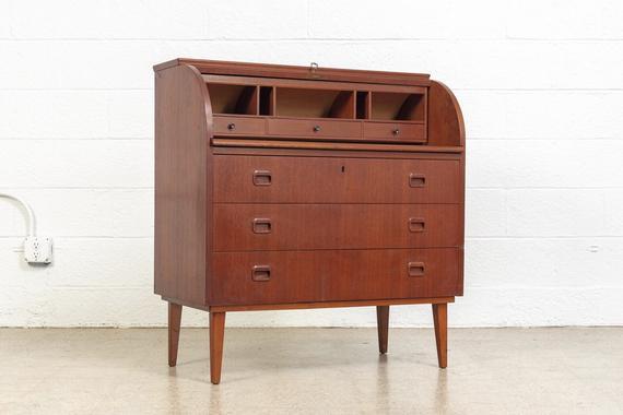 Mid Century Secretary Desk Scandinavian Modern Egon | Etsy