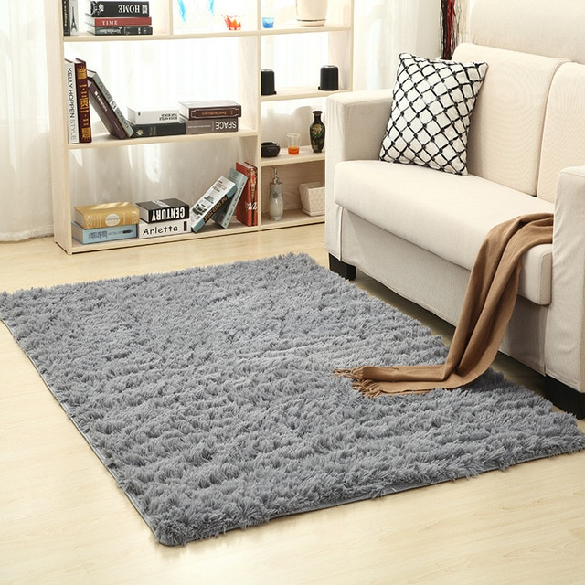 WINLIFE Super Soft Silk Wool Rug Indoor Modern Shag Area Rug Silky