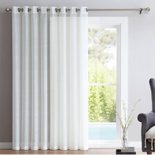 Modern Sheer Door Panel Curtains