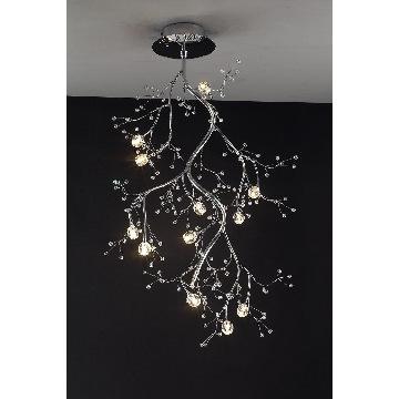 Ceiling MX2255, China Modern tree shape 10W halogen crystal ceiling