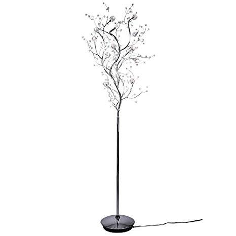Viviana Collection 8 Light Tree Like Crystal Floor Lamp with Chrome