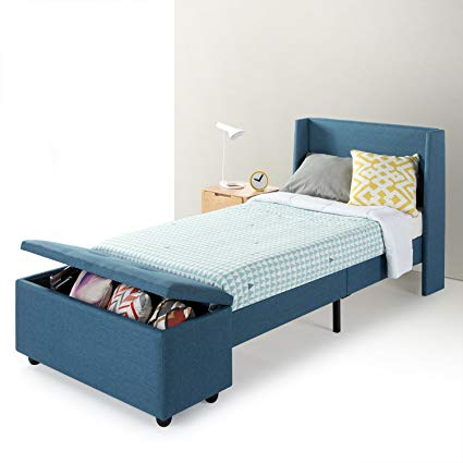 Amazon.com: Mellow Twin Modern Upholstered Platform Beds with