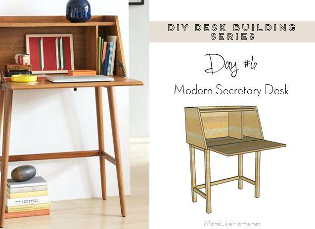 Wall Mounted Secretary Desk Desk Series 6 Modern Secretary Desk More