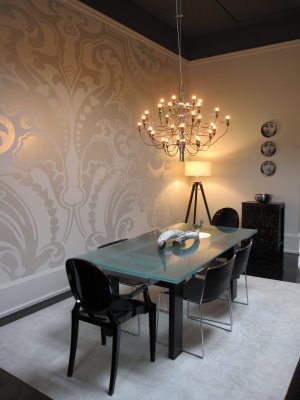 Metallic Wallpaper - Contemporary - dining room