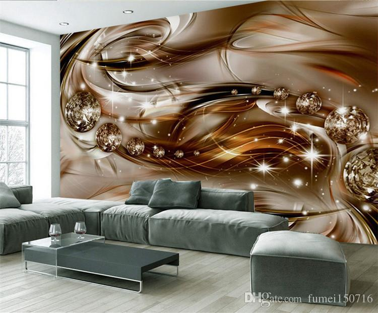 Custom Size Abstract Modern Wallpaper Roll 3D Mural Photo Wallpapers