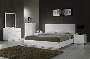 Amazon.com: J&M Furniture Naples Modern White Lacquered Bedroom set