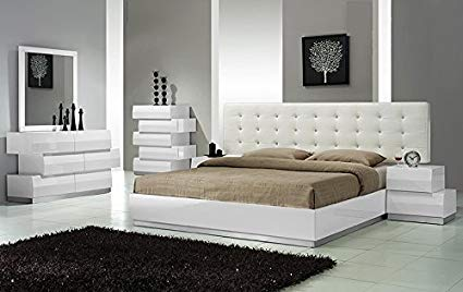 Amazon.com: Modern Spain 4 Piece Bedroom Set California King Size