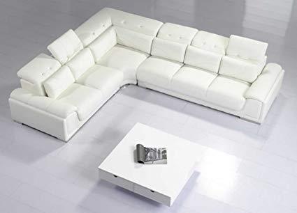 Amazon.com: Modern Furniture- VIG- T93C - Modern White Leather