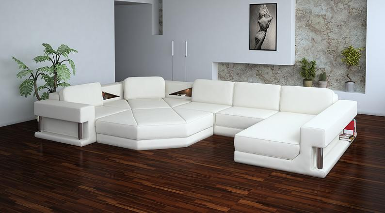 Divani Casa 2315 Modern White Sectional Sofa Set