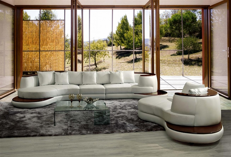 Modern White Sectional Sofa TOS-LF-105