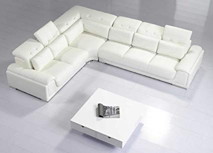 Amazon.com: Modern Furniture- VIG- T93C - Modern White Leather