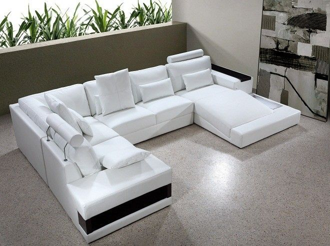 Diamond Modern White Leather