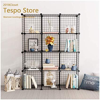 Amazon.com: Tespo Wire Storage Cubes Modular Shelving Unit DIY Metal