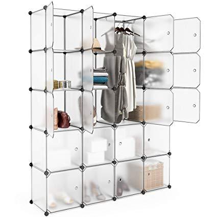 Amazon.com: LANGRIA 20 Cubby Shelving Closet System Cube Organizer