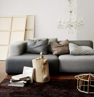 Furniture: High/Low Sectional Sofa - Remodelista