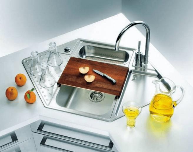 ⫸25 Cool Corner Kitchen Sink Designs [Best Ideas With Photos Gallery] -