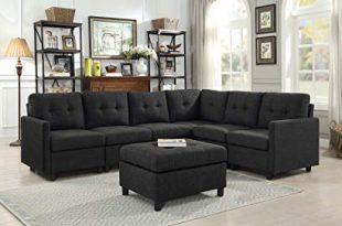 Amazon.com: DAZONE Modular Sectional Sofa Assemble 7-Piece Modular