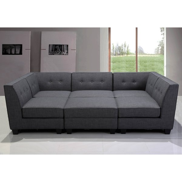 Shop Best Master Furniture 6 Pieces Gray Modular Sectional - Free