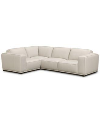 Furniture CLOSEOUT! Zeraga 4-Pc. Leather Modular Sectional Sofa