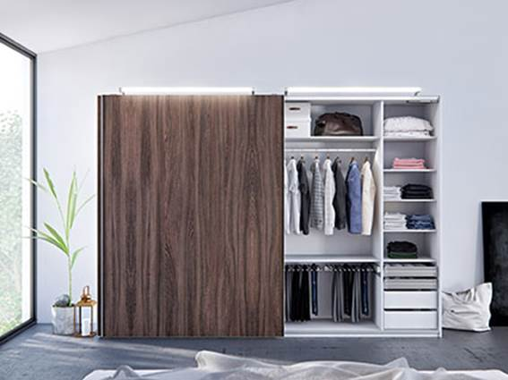 Häfele's Modular Sliding Door Fittings For Wardrobes