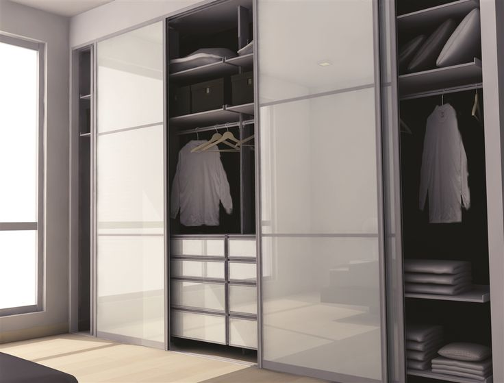 Modular Bedroom Doors & Modular High Gloss 4 Door Wardrobe With