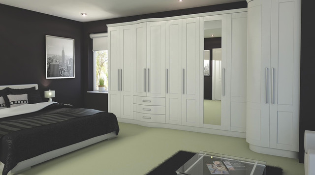 Contemporary White Modular Bedroom Furniture System - Contemporary