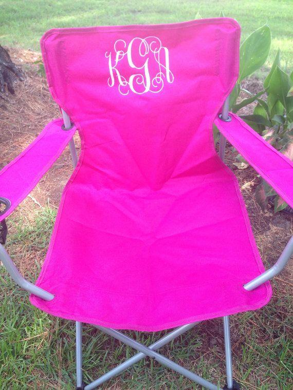 Monogrammed Folding Chair, Beach Chair, Lawn Chair, Bag Chair