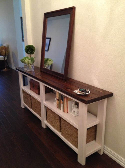 Rustic Chic Console Table | diyfurniture | DIY Home Decor, Home