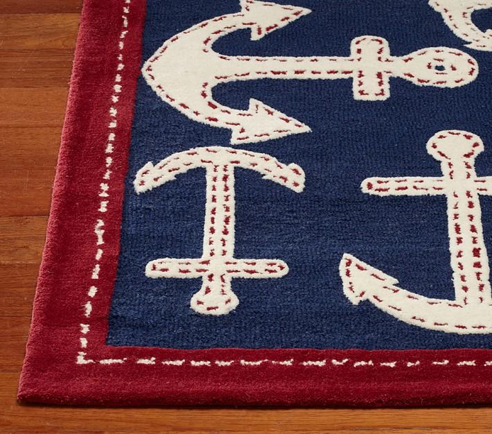 Purple Nautical Rug for Nursery : Decorate Nautical Rug for Nursery