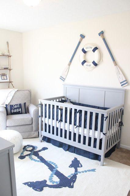Wow! Love the rug in this nautical theme nursery | Nautical Theme