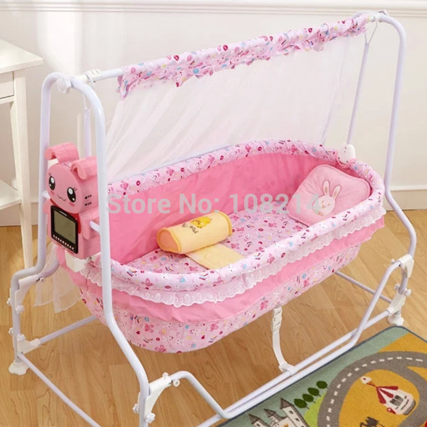 100% Cotton Baby Sleeping Bed Automatic Electric Baby Swing Cribs