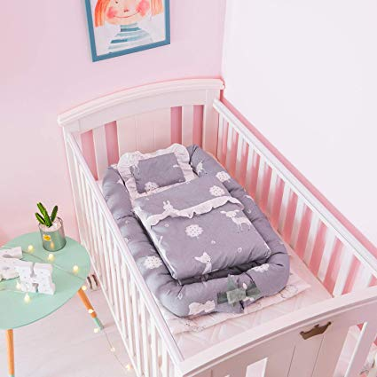 Amazon.com: Baby Cot with Quilt (0-24 Months) Detachable Baby