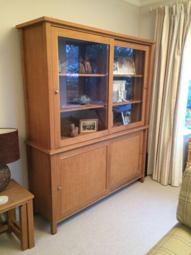 NEXT-oak-Hudson-Dresser-Display-Cabinet-Sliding-Doors | Rear Hall