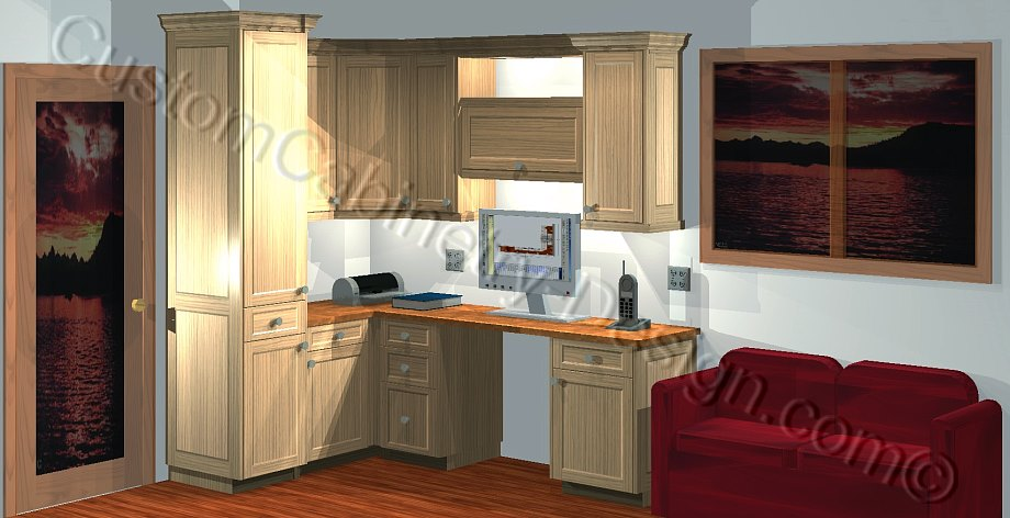 Home Office Cabinets Building Plans Sample, Design & Construction