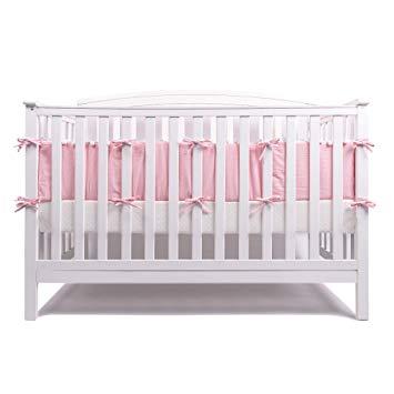 Amazon.com : LOAOL Baby Crib Bumper Pads with Pom Pom Breathable
