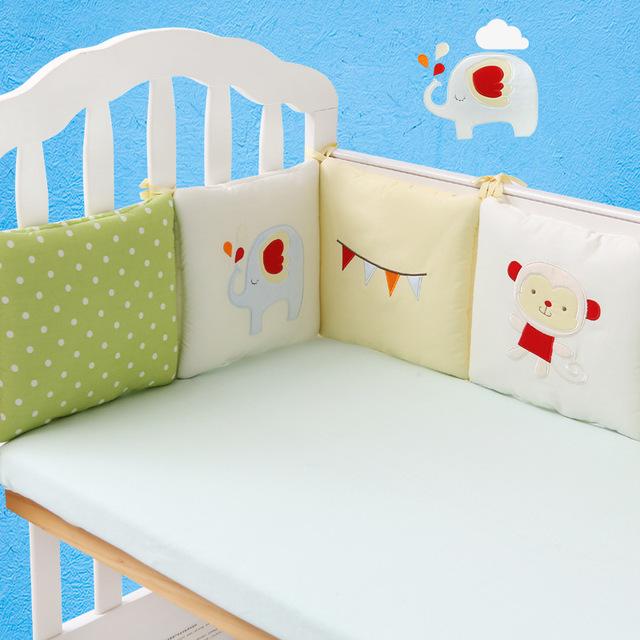 6 Pcs/Set Baby Cot Crib Bumper Pad Cotton Padded Bumper Full